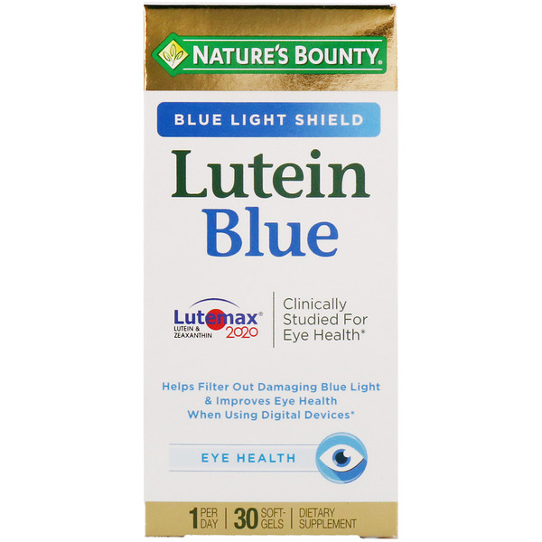 Nature's Bounty, Lutein Blue, 30 Softgels