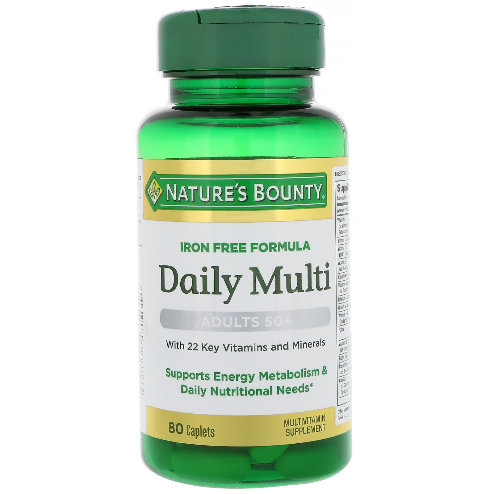 Nature's Bounty, Daily Multi, Adults 50+, 80 Caplets