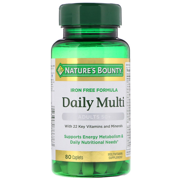 Nature's Bounty, Daily Multi, Adults 50+, 80 Caplets (Discontinued Item)