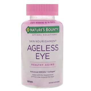 Nature's Bounty, Optimal Solutions, Ageless Eye, Advanced Verisol Collagen, 120 Caplets