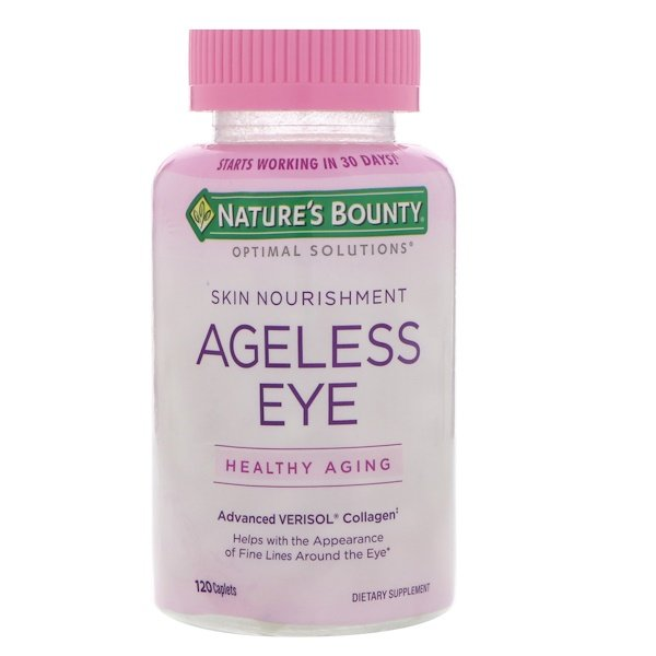 Nature's Bounty, Optimal Solutions, Ageless Eye, Advanced Verisol Collagen, 120 Caplets (Discontinued Item)