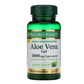 Nature's Bounty, Aloe Vera Gel, 5,000 mg Equivalent, 100 Rapid Release Softgels