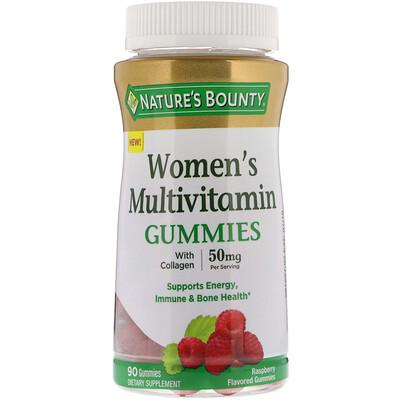Nature's Bounty Жевательные таблетки-мультивитамин для женщин, со вкусом малины, 50 мг, 90 жевательных таблеток