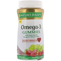 Nature's Bounty, Omega-3軟糖,葡萄、草莓和覆盆子味,70粒軟糖
