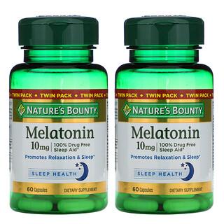 Nature's Bounty, Melatonin, Twin Pack, 10 mg, 60 Capsules Each