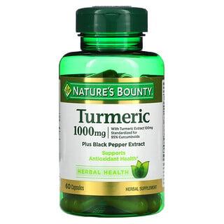 Nature's Bounty, Turmeric Plus Black Pepper Extract, 1,000 mg, 60 Capsules