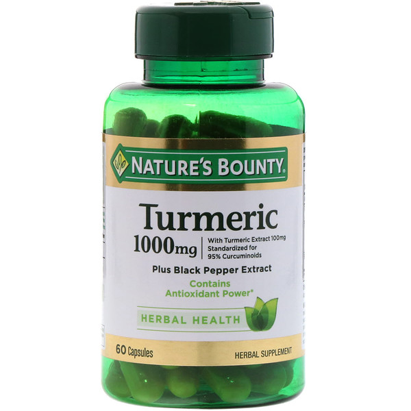 Nature's Bounty, Cúrcuma, 1000 mg, 60 cápsulas