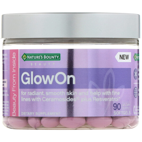 Nature's Bounty, GlowOn، 90 كبسولة