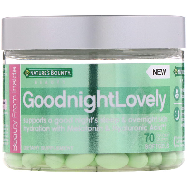 Nature's Bounty, GoodnightLovely, 70 Softgels