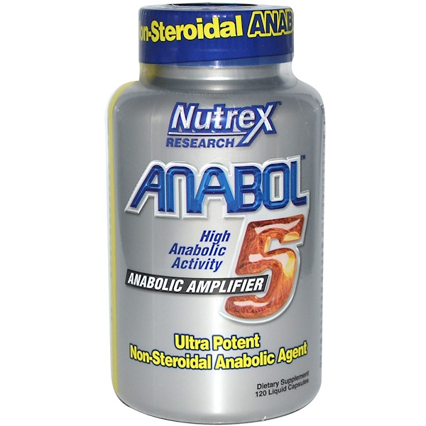 Nutrex Research, Anabol-5, Anabolic Amplifier, 120 Liquid Capsules (Discontinued Item)