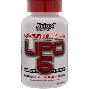 Nutrex Research Labs, Lipo 6 максимальная сила, 120 жидкостных капсул