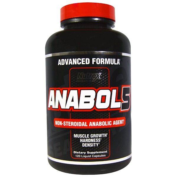 Nutrex Research Labs, Anabol 5, 120 Liquid Capsules