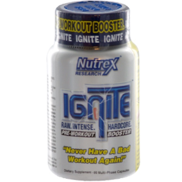 Nutrex Research Labs, Ignite, 60 Capsules (Discontinued Item)