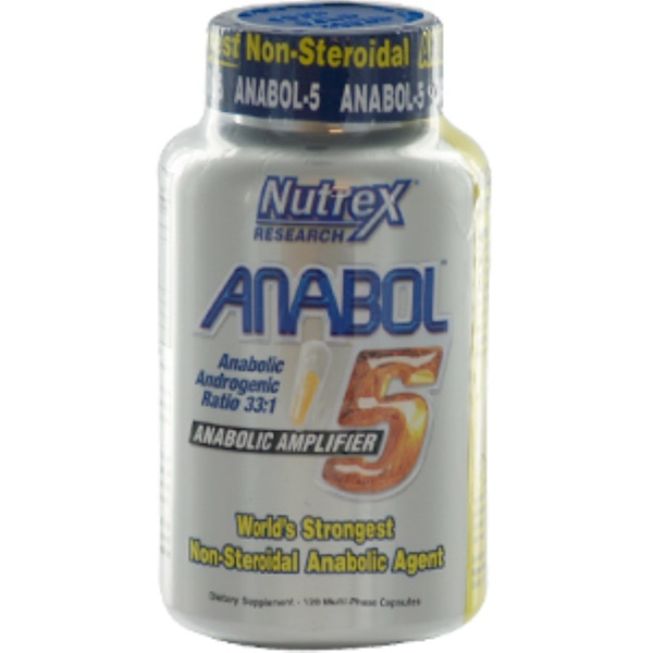 Nutrex Research Labs, Anabol-5, 120 Capsules (Discontinued Item)