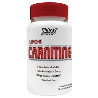 Nutrex Research Labs, Lipo-6 Carnitine, 60 Liquid Capsules