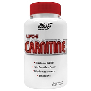 Nutrex Research Labs, Lipo-6 Carnitine, 120 Liquid Capsules