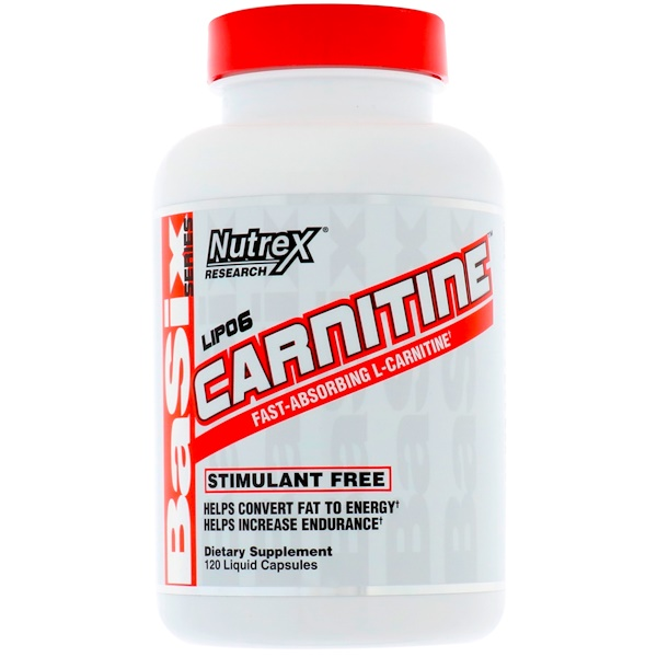 Nutrex Research, LIPO-6 CARNITINE, 120 Liquid Capsules