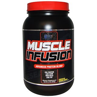 Nutrex Research Labs, Muscle Infusion, Advanced Protein Blend, Chocolate Banana Crunch, 2 lbs (908 g)