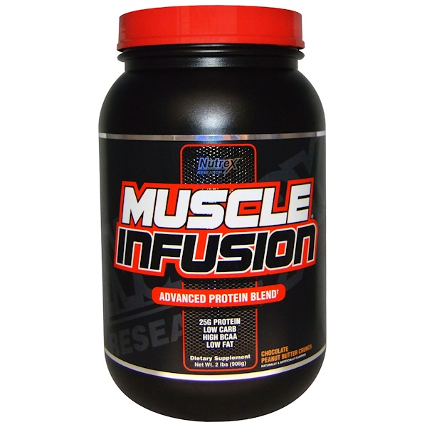 Nutrex Research, Muscle Infusion, Advanced Protein Blend, Chocolate Peanut Butter Crunch, 2 lbs (908 g) (Discontinued Item)