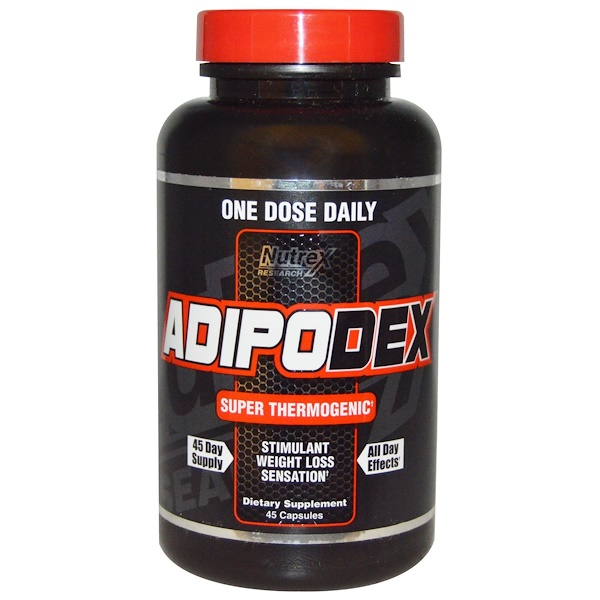 Nutrex Research, Adipodex, Super Thermogenic, 45 Capsules (Discontinued Item)