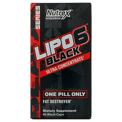 Nutrex Research Labs, Lipo 6 Black Ultra Concentrate, 60 Black-Caps