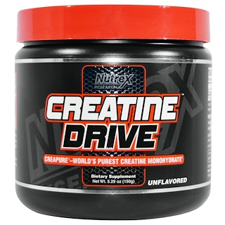 Nutrex Research, Creatine Drive, Creatine Monohydrate, Unflavored, 5.29 oz (150 g)