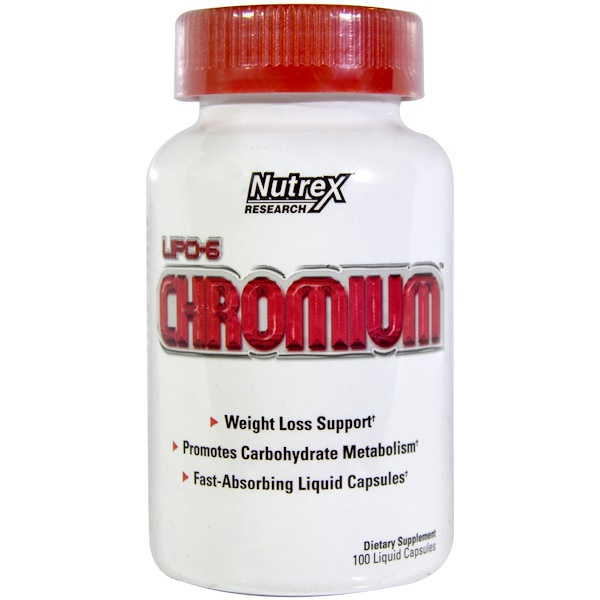 Nutrex Research, Lipo-6 Chromium, 100 Liquid Capsules (Discontinued Item)