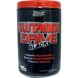 Nutrex Research, Glutamine Drive Black, Unflavored, 5000 mg, 10.58 oz (300 g)