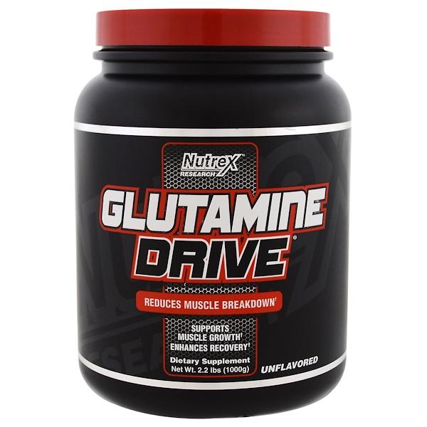 Nutrex Research, Формула Glutamine Drive, без вкуса, 2,2 фунта (1000 г) (Discontinued Item)