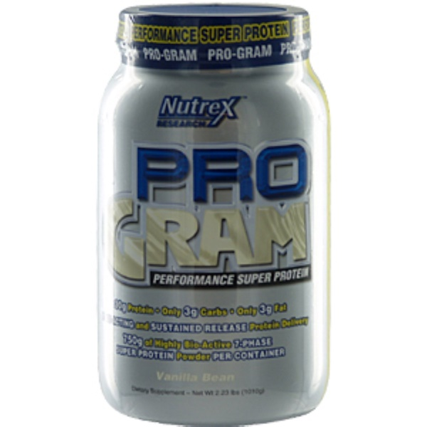 Nutrex Research Labs, Pro-Gram, Performance Super Protein, Vanilla Bean, 2.23 lbs (1010 g) (Discontinued Item)