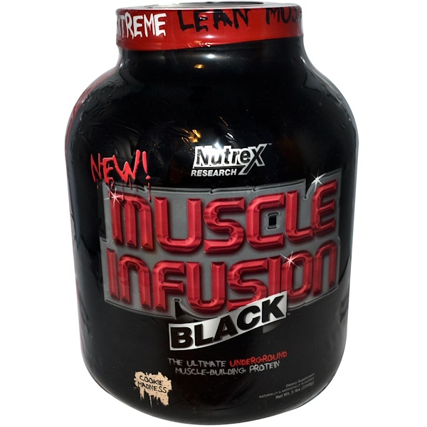 Nutrex Research, Muscle Infusion Black, Muscle-Building Protein, Cookie Madness, 5 lbs (2268 g) (Discontinued Item)