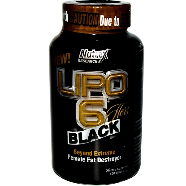 Nutrex Research Labs, Lipo 6 Black, Hers, 120 Black-Caps (Discontinued Item)
