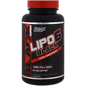 Нутрекс Ресерч Лаб, Lipo 6 Black Ultra Concentrate, 60 Capsules отзывы