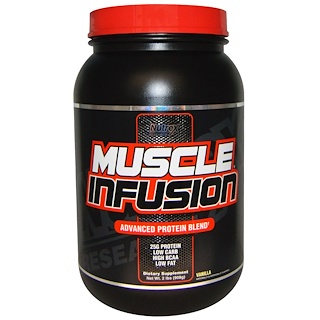 Nutrex Research Labs, Muscle Infusion, Advanced Protein Blend, Vanilla, 2 lbs (908 g)