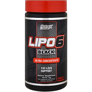 Nutrex Research, Lipo 6 Black, Ultra Concentrate, Fruit Punch, 70 g