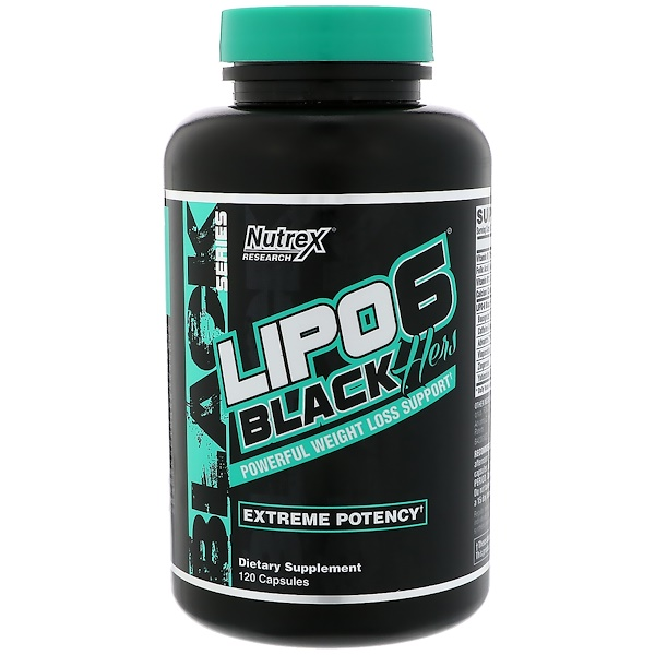 Nutrex Research, LIPO-6 Black Hers, Extreme Potency, 120 Capsules