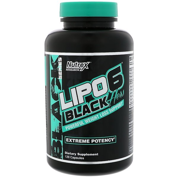 Nutrex Research, Lipo-6 Black, Hers, Extreme Potency, 120 Capsules