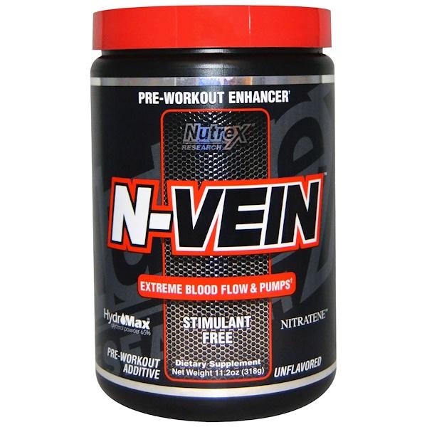 Nutrex Research, N-Vein, Pre-Workout Enhancer, Unflavored, 11.2 oz (318 g) (Discontinued Item)