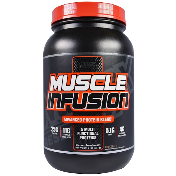 Nutrex Research, Muscle Infusion,  Advanced Protein Blend, Chocolate, 2 lbs (907 g) (Discontinued Item)
