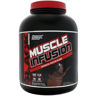 Nutrex Research Labs, Muscle Infusion, Advanced Protein Blend, Chocolate, 5 lbs (2268 g)