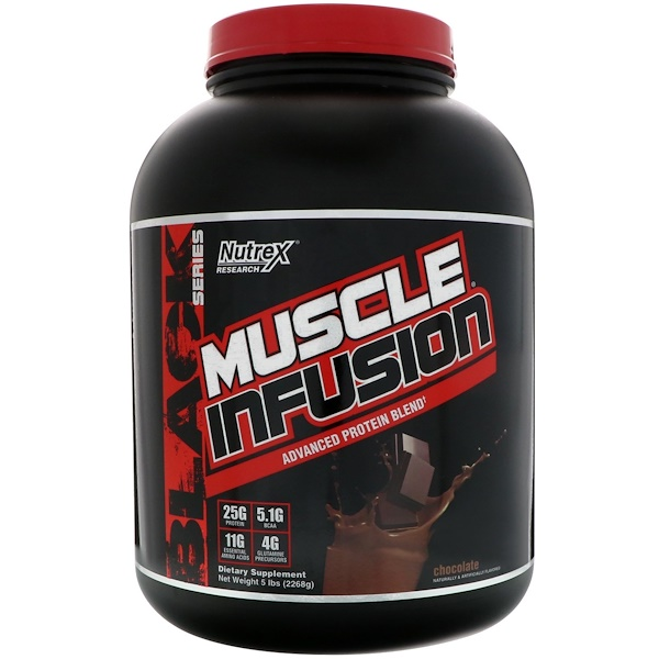Nutrex Research, Muscle Infusion, Advanced Protein Blend, Chocolate, 5 lbs (2268 g) (Discontinued Item)