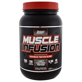 Nutrex Research Labs, Muscle Infusion, Advanced Protein Blend, Vanilla, 2 lbs (907 g)
