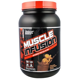 Nutrex Research Labs, Muscle Infusion, Advanced Protein Blend, Chocolate Peanut Butter Crunch, 2 lbs (907 g)