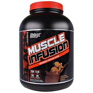 Nutrex Research Labs, Muscle Infusion, Advanced Protein Blend, Chocolate Peanut Butter Crunch, 5 lbs (2268 g)