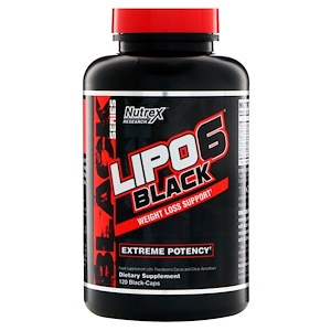 Нутрекс Ресерч Лаб, Lipo 6 Black, Extreme Potency, 120 Black-Caps отзывы