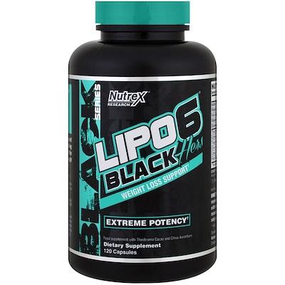 Lipo-6 Black, для нее, для похудания, 120 капсул