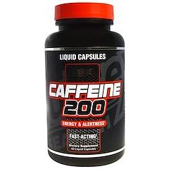 Nutrex Research Labs, Caffeine 200, Energy & Alertness, 60 Liquid Capsules