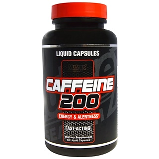 Nutrex Research Labs, Caffeine 200, Energy & Alertness, 60 Liquid Capsules