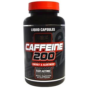 Нутрекс Ресерч Лаб, Caffeine 200, Energy & Alertness, 60 Liquid Capsules отзывы покупателей
