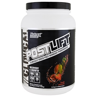 Nutrex Research Labs, Clinical Edge, Postlift, Post-Workout Powerhouse, Fruit Punch, 2.4 lbs (1090 g)